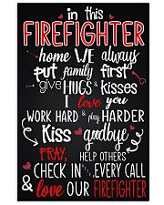 In this firefighter home 11x17 Poster front