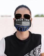 Back the blue flag Cloth face mask aos-face-mask-lifestyle-02