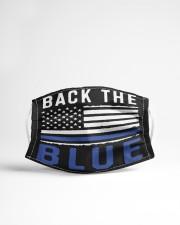 Back the blue flag Cloth face mask aos-face-mask-lifestyle-22