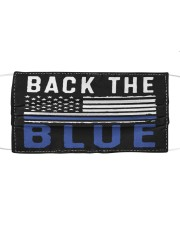 Back the blue flag Cloth face mask front