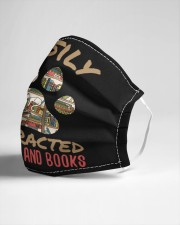 cats and books Cloth face mask aos-face-mask-lifestyle-21