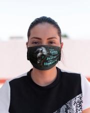 LH Horse This Girl Runs Cloth face mask aos-face-mask-lifestyle-03