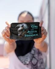 LH Horse This Girl Runs Cloth face mask aos-face-mask-lifestyle-07