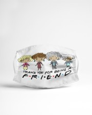 Thank you for being a friend Cloth face mask aos-face-mask-lifestyle-22
