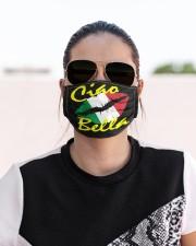 Ciao Bella Italian Lips Cloth face mask aos-face-mask-lifestyle-02