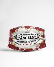 I believe in angels Cloth face mask aos-face-mask-lifestyle-22
