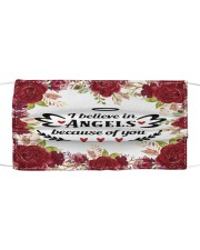 I believe in angels Cloth face mask front