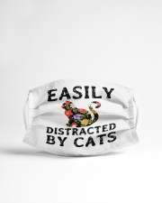 easily distracted by cats Cloth face mask aos-face-mask-lifestyle-22
