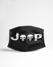 LH Jeep Skull 2 Cloth face mask aos-face-mask-lifestyle-22