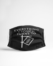 Everything I Touch Turns To SOLD Cloth face mask aos-face-mask-lifestyle-22