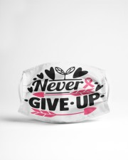 Never give up Cloth face mask aos-face-mask-lifestyle-22