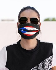 Puerto Rican Flag Lips Cloth face mask aos-face-mask-lifestyle-02