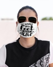 Feel most alive Cloth face mask aos-face-mask-lifestyle-02