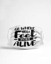 Feel most alive Cloth face mask aos-face-mask-lifestyle-22