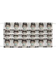 Blue Bubble Gum Cloth face mask front