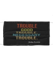 Good Trouble Cloth face mask front