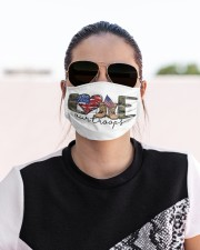 Love our troops Cloth face mask aos-face-mask-lifestyle-02