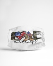 Love our troops Cloth face mask aos-face-mask-lifestyle-22