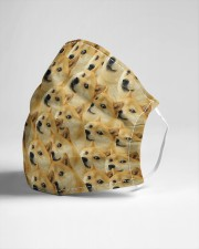 Funny dog face Cloth face mask aos-face-mask-lifestyle-21