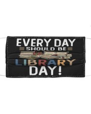 Every Day Library Day Cloth face mask front