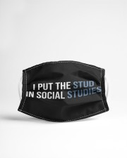 I Put The Stud In Social Cloth face mask aos-face-mask-lifestyle-22