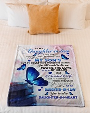 "TO MY Daughter Small Fleece Blanket - 30"" x 40"" aos-coral-fleece-blanket-30x40-lifestyle-front-04"