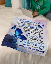 "TO MY Daughter Small Fleece Blanket - 30"" x 40"" aos-coral-fleece-blanket-30x40-lifestyle-front-07"