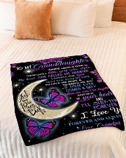 "To my beautiful Granddaugter Small Fleece Blanket - 30"" x 40"" aos-coral-fleece-blanket-30x40-lifestyle-front-01"