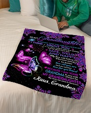 "TO MY Granddaughter Small Fleece Blanket - 30"" x 40"" aos-coral-fleece-blanket-30x40-lifestyle-front-07"