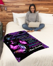 "TO MY Granddaughter Small Fleece Blanket - 30"" x 40"" aos-coral-fleece-blanket-30x40-lifestyle-front-08"
