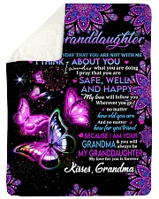 "TO MY Granddaughter Large Sherpa Fleece Blanket - 60"" x 80"" thumbnail"