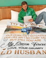 "TO MY WIFE Large Fleece Blanket - 60"" x 80"" aos-coral-fleece-blanket-60x80-lifestyle-front-06"