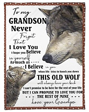"""To my GRANDSON Small Fleece Blanket - 30"""" x 40"""" front"""