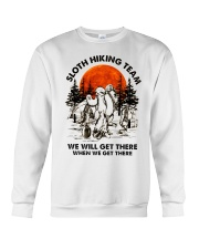 Sloth Hiking Team Crewneck Sweatshirt thumbnail