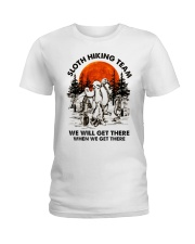 Sloth Hiking Team Ladies T-Shirt front