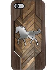 Horse Faux Wood Phone Phone Case i-phone-8-case