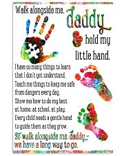 Daddy hold my little hands Father's day 11x17 Poster front