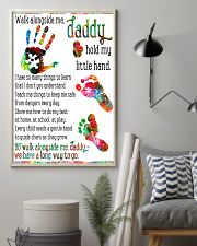 Daddy hold my little hands Father's day 11x17 Poster lifestyle-poster-1