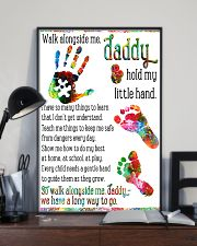 Daddy hold my little hands Father's day 11x17 Poster lifestyle-poster-2