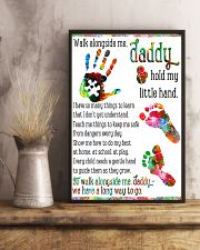 Daddy hold my little hands Father's day 11x17 Poster lifestyle-poster-3