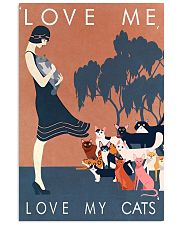 Love me love my cats 11x17 Poster front