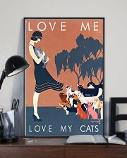 Love me love my cats 11x17 Poster lifestyle-poster-2