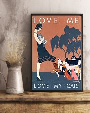Love me love my cats 11x17 Poster lifestyle-poster-3