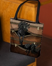 Horse Leather Pattern Print All-over Tote aos-all-over-tote-lifestyle-front-02