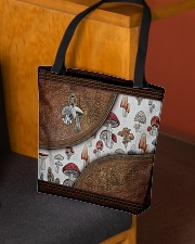 Lovely mushroom Leather pattern print All-over Tote aos-all-over-tote-lifestyle-front-02