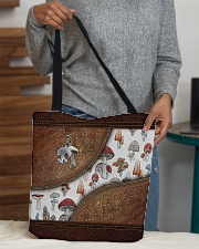 Lovely mushroom Leather pattern print All-over Tote aos-all-over-tote-lifestyle-front-10