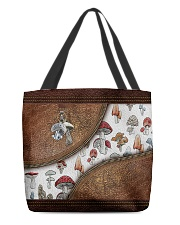Lovely mushroom Leather pattern print All-over Tote back