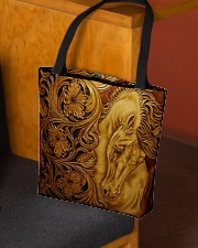 Horse Faux Leather All-over Tote aos-all-over-tote-lifestyle-front-02