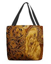 Horse Faux Leather All-over Tote back