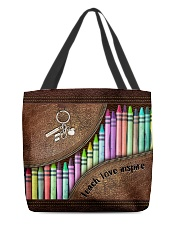 Teach love inspire All-over Tote back